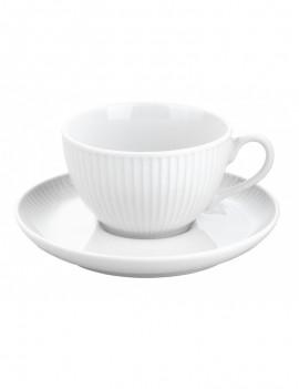 Paire tasse et soucoupe à thé en porcelaine Plissé