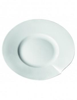 Assiette plate aile large  en porcelaine Canopée Pillivuyt