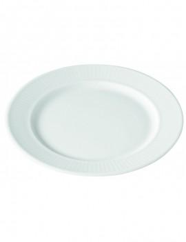 Assiette plate en porcelaine Plissé