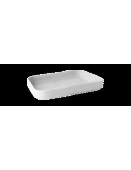 Plat à tapas en porcelaine Plissé