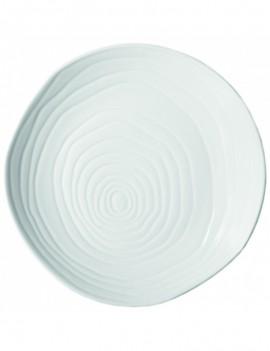 Assiette plate en porcelaine Teck