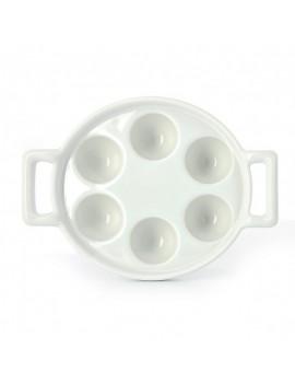 Plat à escargot en porcelaine