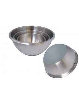 Bassine pâtissière 1/2 sphérique inox - revêtue silicone