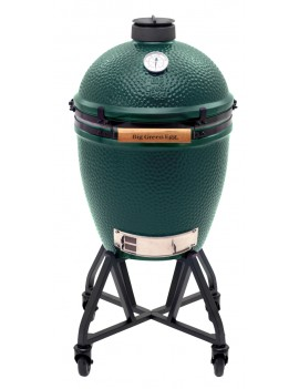 Kamado LARGE - Pack Start avec chariot à roulettes BIG GREEN EGG