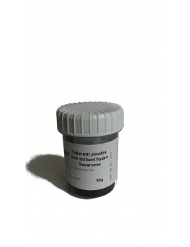 Colorant noir brillant poudre hydrosoluble professionnel