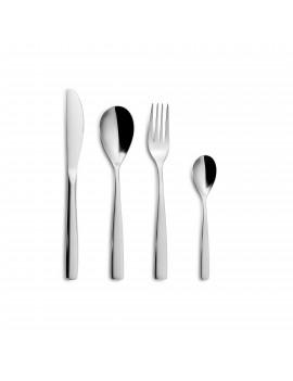Set de couverts BCN Colors Noir Satin Inox 18/0 - Couteau - Fourchette - Cuillère - Cuillère à café COMAS