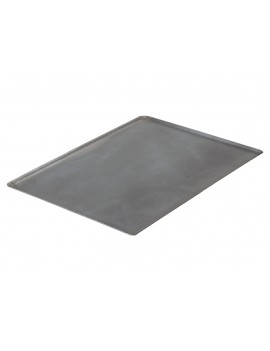 Plaque rectangulaire bords pincés en tôle d'acier