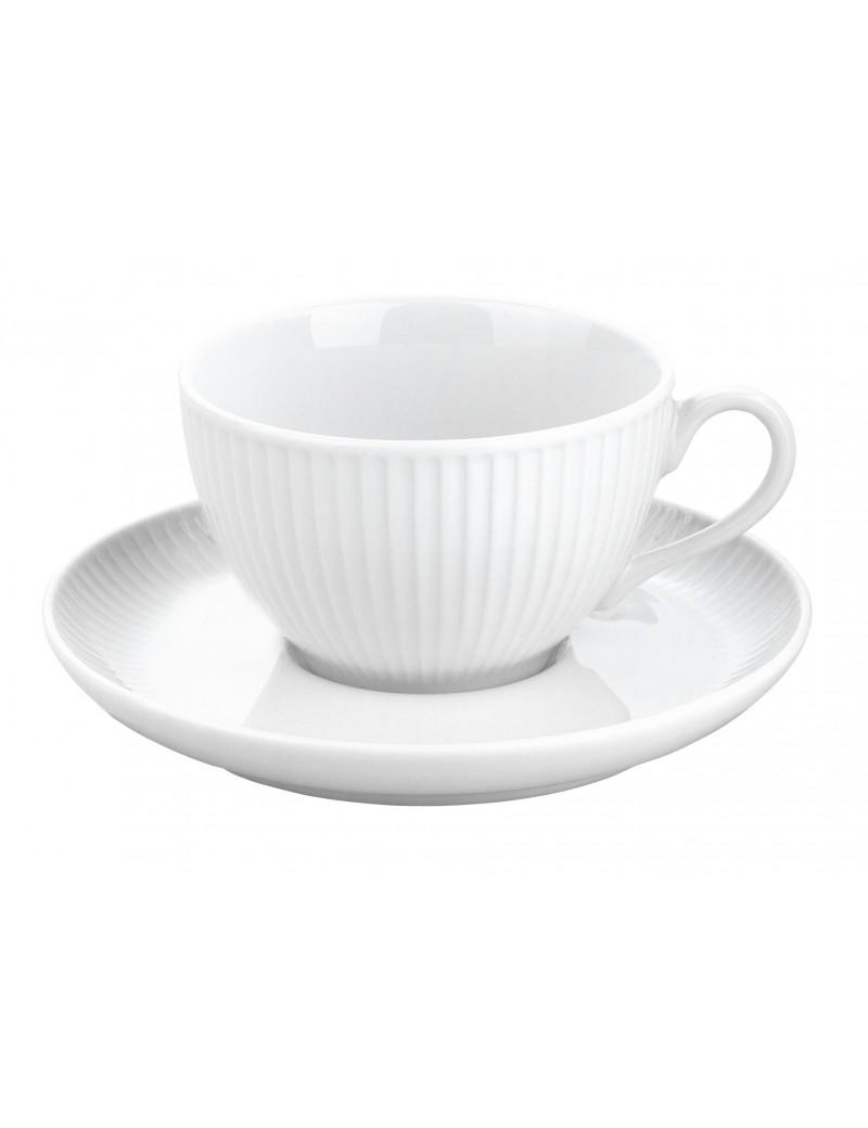 Paire tasse à thé Plissé PILLIVUYT
