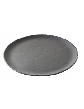 Assiette ronde 32 cm effet ardoise - Basalt