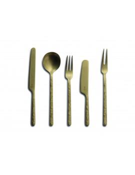 Set de couverts Kodai Vintage Gold - Couteau - Fourchette - Cuillère CULTER