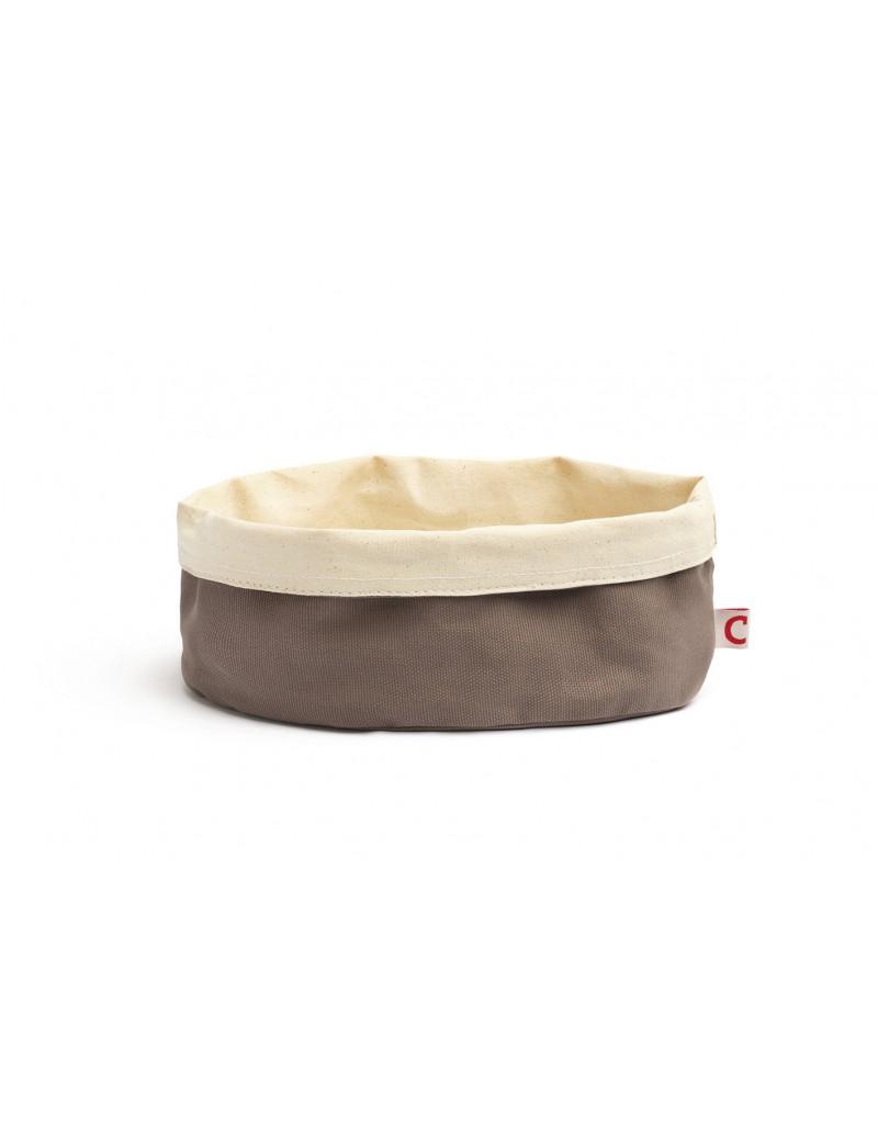 Corbeille à pain ovale en coton 20 x 15 cm COMAS