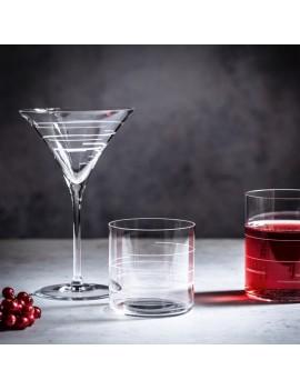 2 coupes de cristal à cocktail Martini Lines Signature Drinks