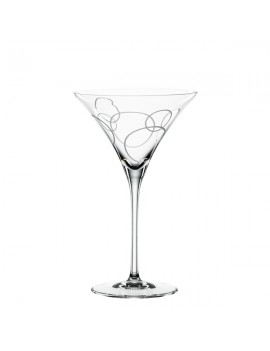2 coupes de cristal à cocktail Martini Cercles Signature Drinks