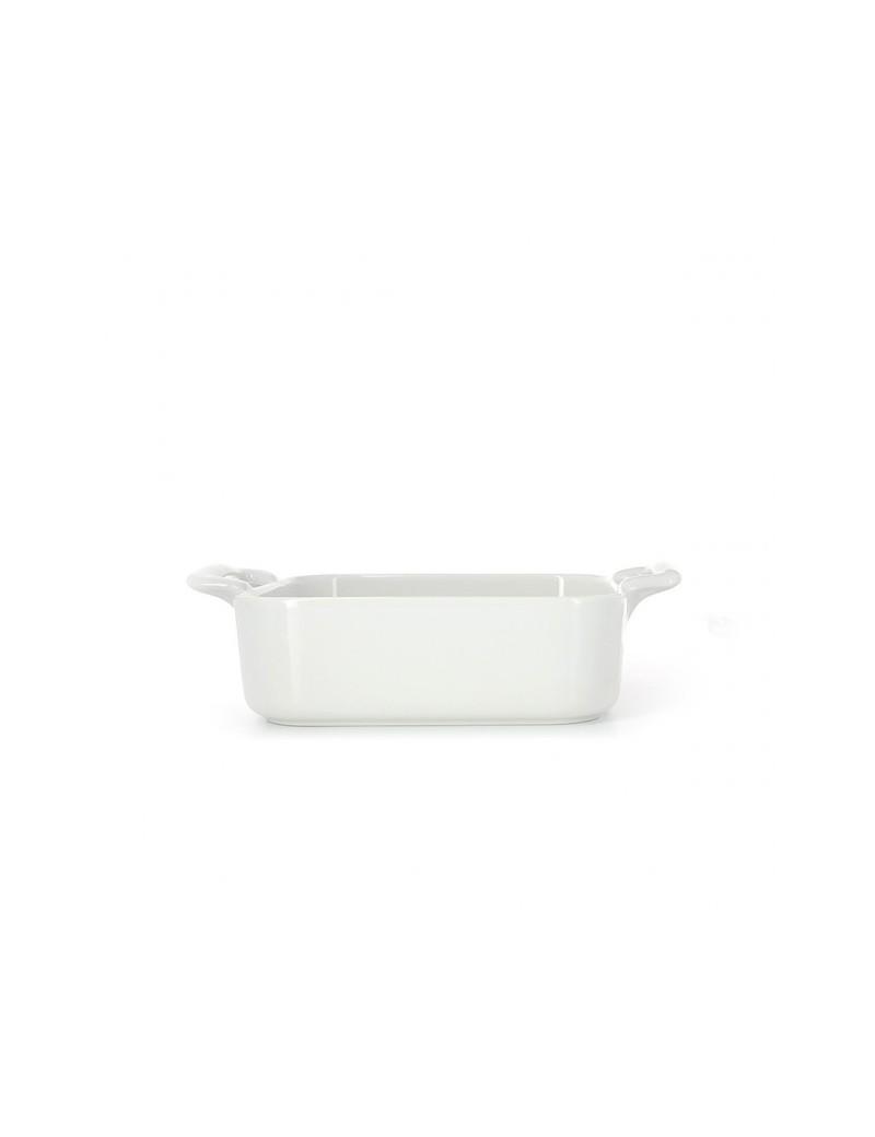 Plat carré profond en porcelaine