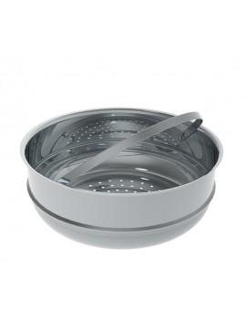 Cuit-vapeur 24 cm en acier inoxydable De Buyer