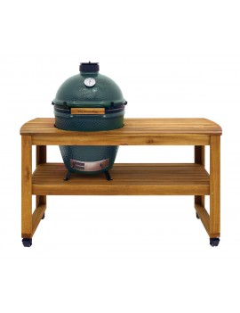 Kamado LARGE - Ensemble Egg + Table  acacia BIG GREEN EGG