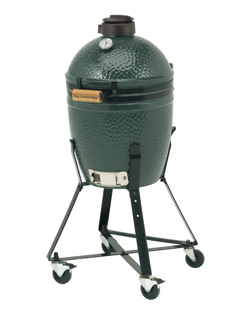 Kamado SMALL - Pack Start avec berceau à roulettes BIG GREEN EGG