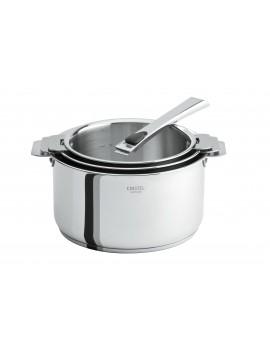 Série 3 casseroles amovibles 16 à 20 cm Casteline + 1 poignée CRISTEL