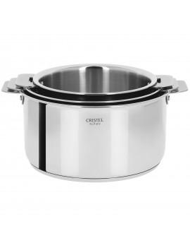 Série 3 casseroles amovibles 16 à 20 cm Casteline CRISTEL