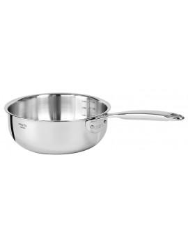 Série 3 casseroles 16 à 20 cm Castel'Pro® Fixe induction CRISTEL