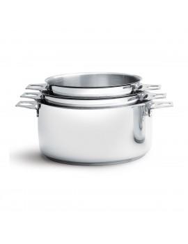 Lot de 3 casseroles amovibles Twisty 16 à 20 cm