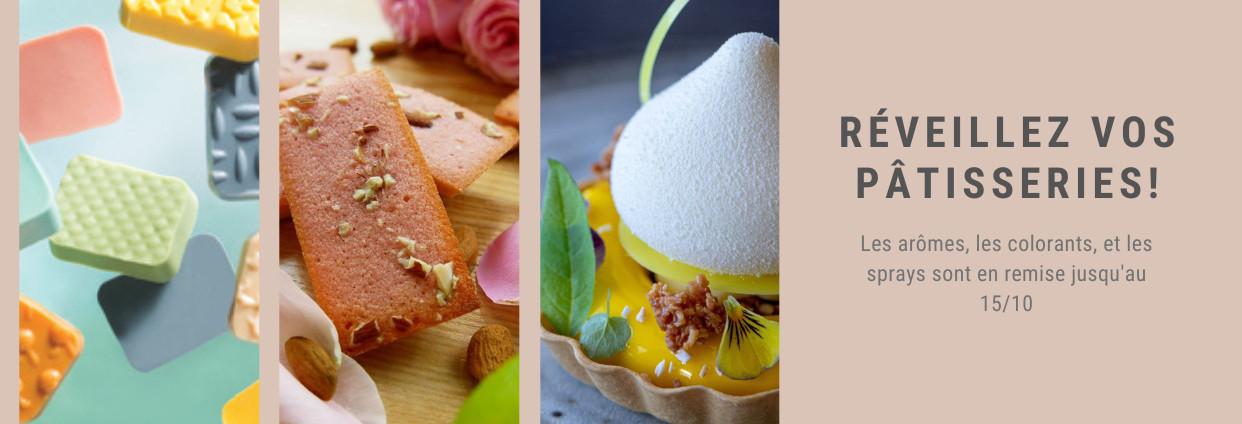 Promo sur les colorants, aromes et moules silicones
