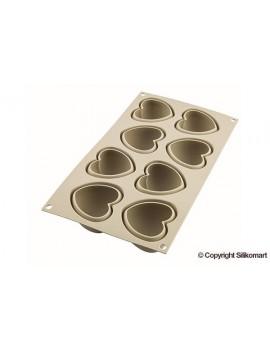 Cuoricino - moule silicone pour 8 créations dim.6,3x6,5x3,8 cm Silikomart