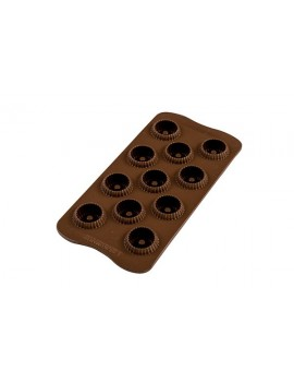 Moule silicone pour 15 créations Choco Crown 3D Silikomart