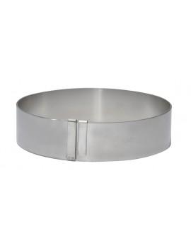 Cercle à pâtisserie extensible en inox ressort de Buyer