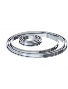 Cercle à tarte perforé en inox Rond De Buyer