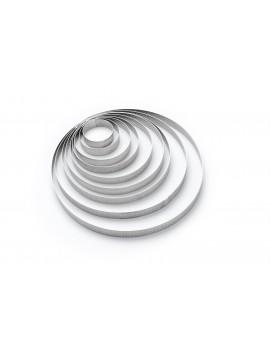 Cercle à tarte perforé à bord droit en inox Rond