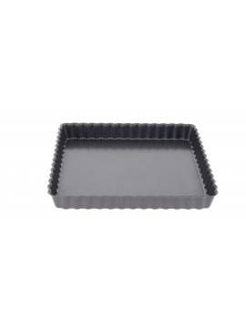 Moule à tarte carré cannelé et tourtière à fond amovible de Buyer