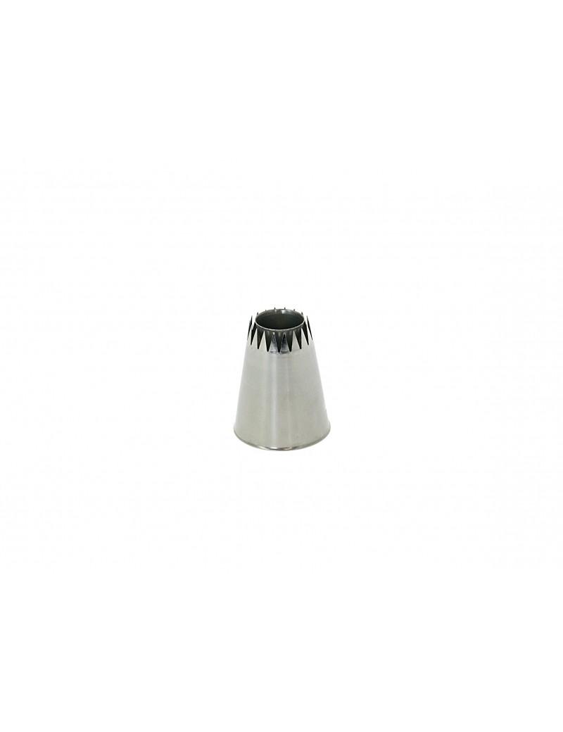 Douille sultane cône rasant cannelée 2 cm H 4,5 cm De Buyer