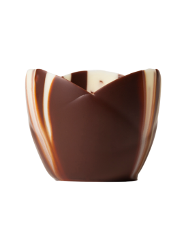 Coupes Petits Fours en chocolat marbrées