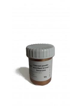 Colorant scintillant bronze poudre liposoluble professionnel SEVAROME