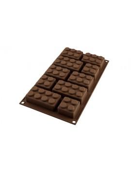 Moule silicone Choco Block 3D type brique lego SILIKOMART