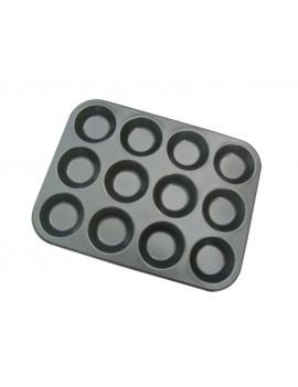 Plaque de moules individuels 12 Tartelettes rondes diam. 7cm de Buyer