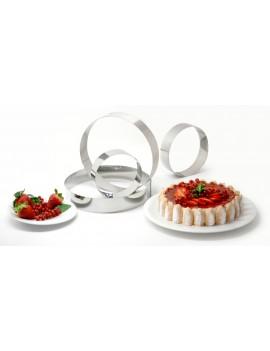 Cercle à pâtisserie rond en inox - H. 4,5 cm, dit cercle à mousse ou à entremets de Buyer